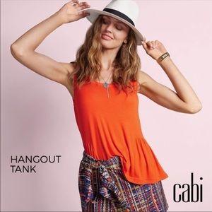 Cabi Hangout Tank in Tangerine NWOT